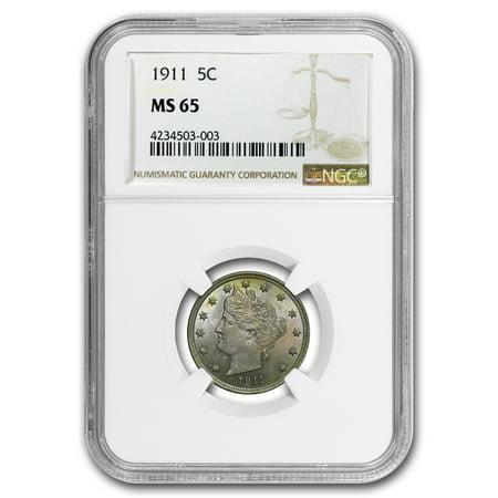 1911 Liberty Head V Nickel Ms 65 Ngc