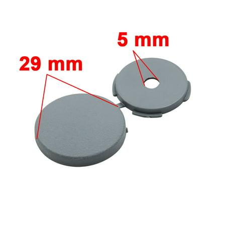 4 Pcs Gray 5mm Dia Nut Screw Bolt Cap Covers Interior Decoration for Car - image 1 of 4