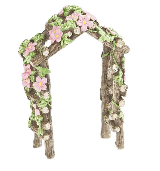 Backyard Collection Floral Wood Log Trellis By Ganz by