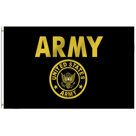 Army General Flags (ANLEY [Fly Breeze] 3x5 Feet US Army Crest Flag - Vivid Color and UV Fade Resistant - Canvas Header and Brass Grommets - US Military Banner)
