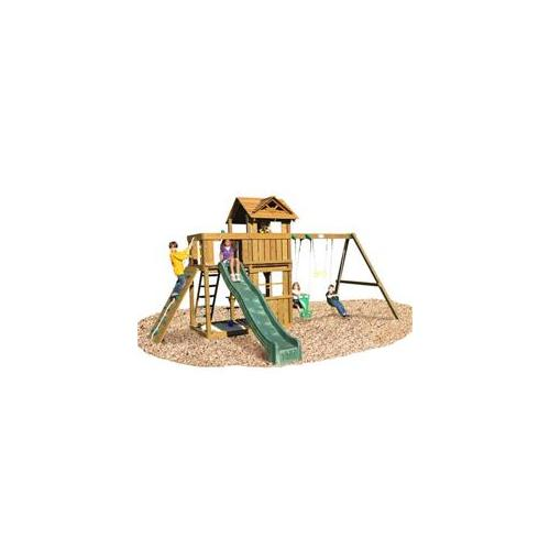 Playtime PS10CAMSBR Cambridge Swing Set- Swing Beam With Rope Accessories