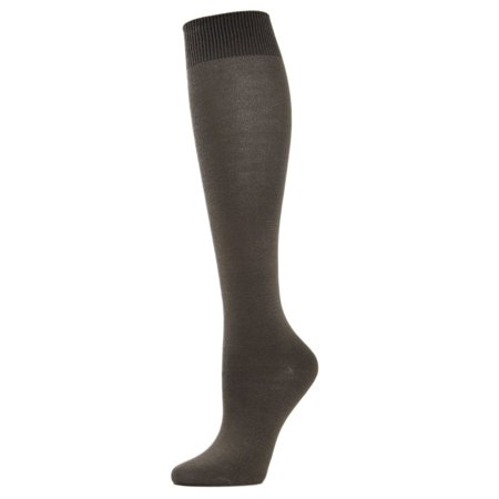 MeMoi Bamboo Blend Solid Knit Knee High Sock | Women Winter Fall Socks One Size / Military Olive ML