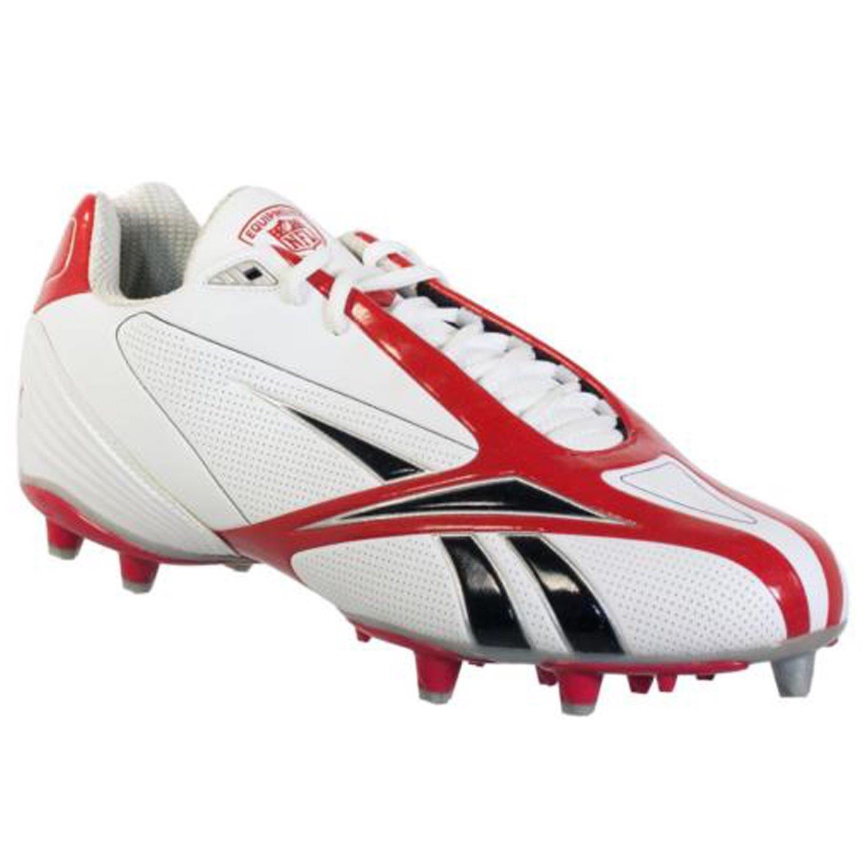 REEBOK NFL BURNER SPD III 5/8 M3 MENS FOOTBALL CLEATS WHITE & RED 12