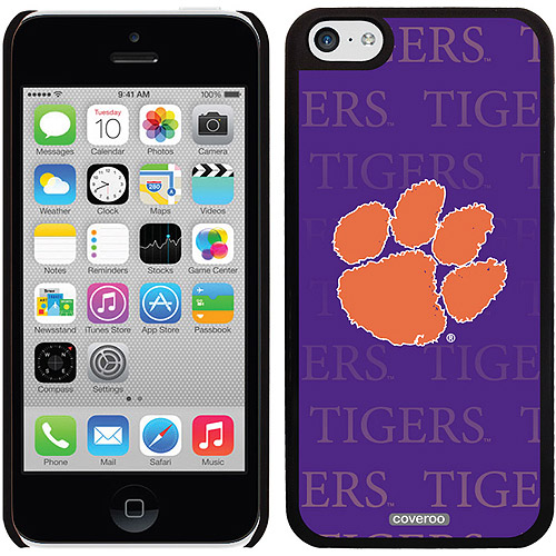 Coveroo Clemson Repeating Design Apple iPhone 5c Thinshield Snap-On Case