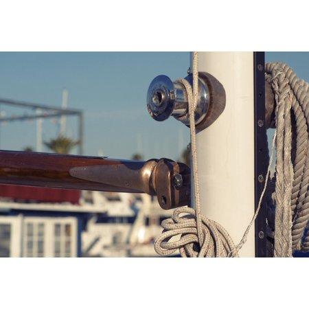 LAMINATED POSTER Ropes Yacht Sailboat Knots Water Sports Pole Mast Poster Print 24 x 36