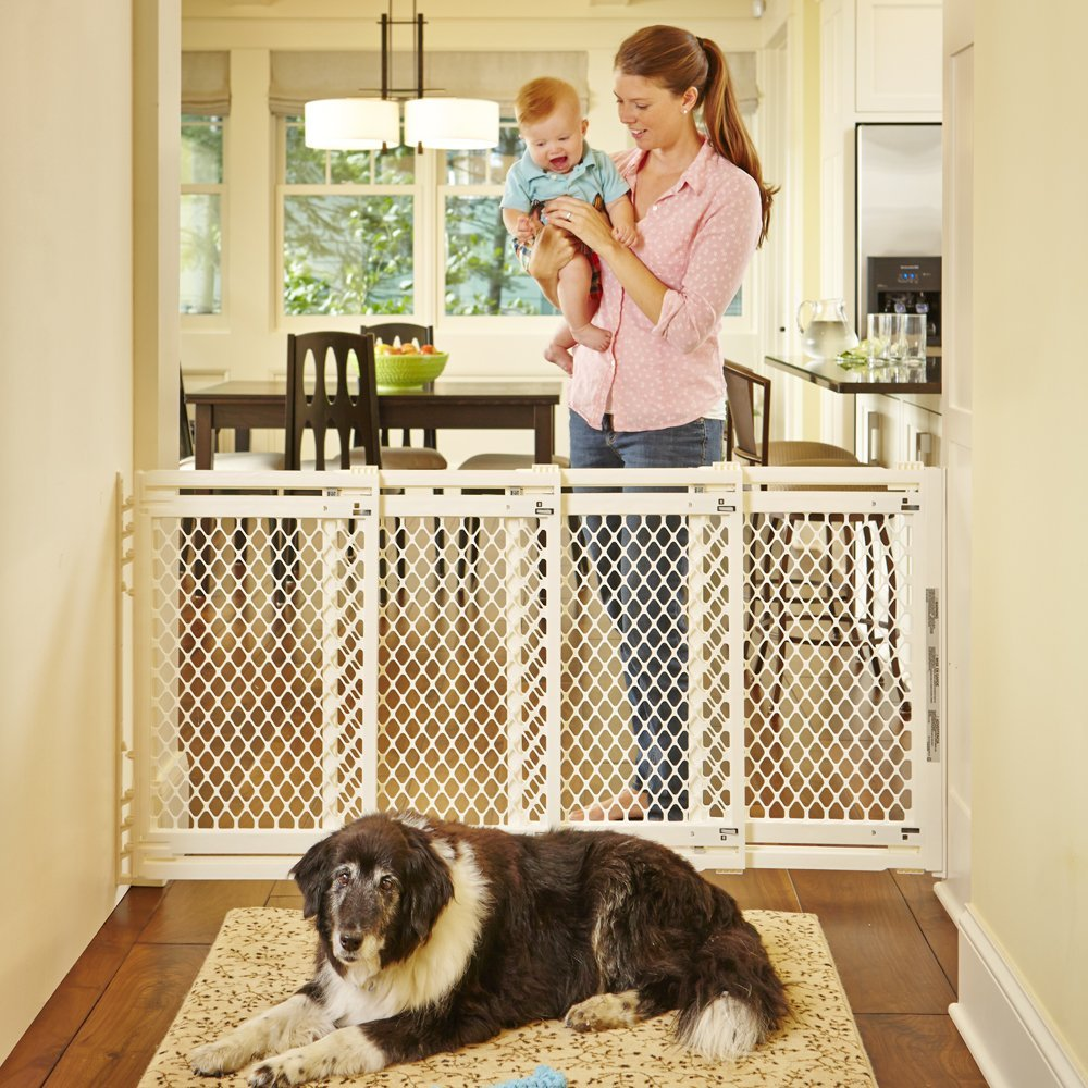 North States Extra Wide Sliding Swing Door Baby Gate, 22''-62""