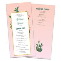 Personalized Cactus Fiesta Wedding Program