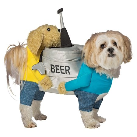 Dogs Carrying Beer Keg Pet Costume, L-XL](Dog Costume Prisoner)