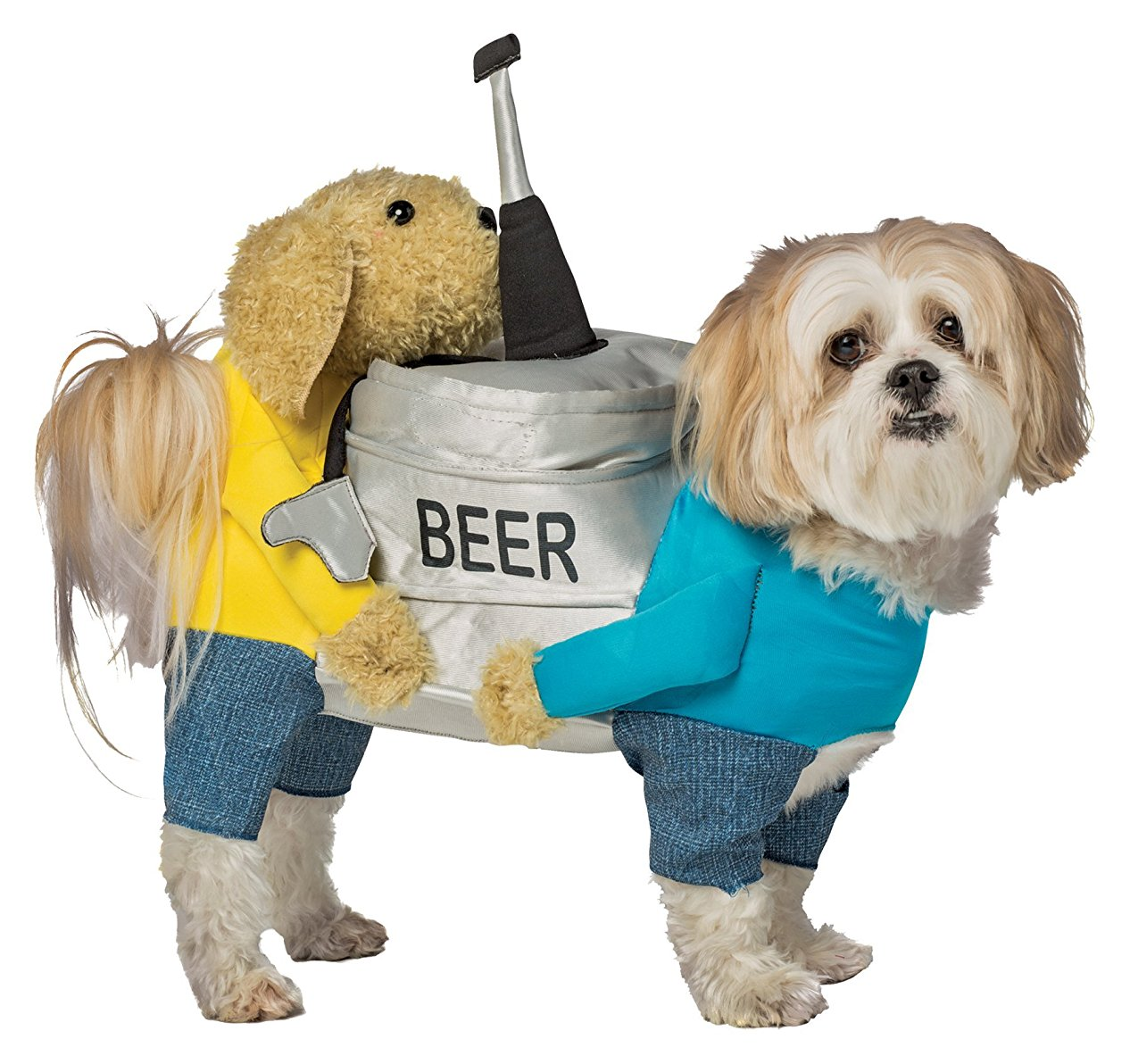 Dogs Carrying Beer Keg Pet Costume, L-XL