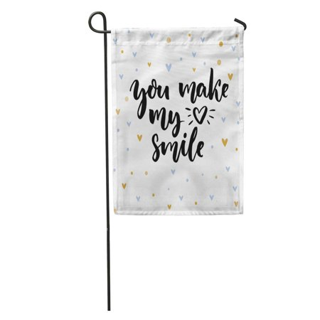 LADDKE You Make My Heart Smile Inspirational Saying for Valentine Day Garden Flag Decorative Flag House Banner 12x18 (Valentine's Sayings)