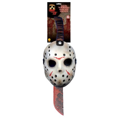 Friday the 13th Jason Mask and Machete Kit - Jason Halloween Without Mask