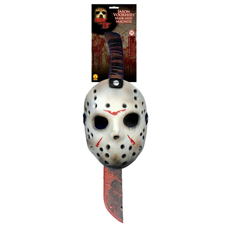 Friday the 13th Jason Mask and Machete Kit Accessory - Hell Raiser Mask
