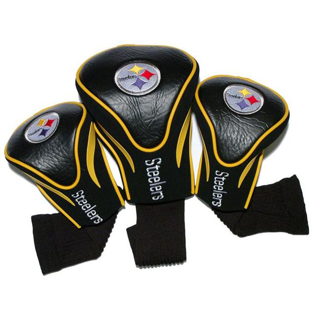 Team Golf 32494 Pittsburgh Steelers 3 Pack Contour Fit Headcover
