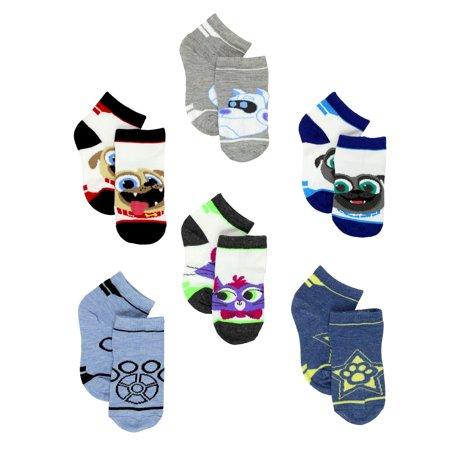 Puppy Dog Pals Boy's 6 pack Quarter Socks (Toddler) DZ000EQS