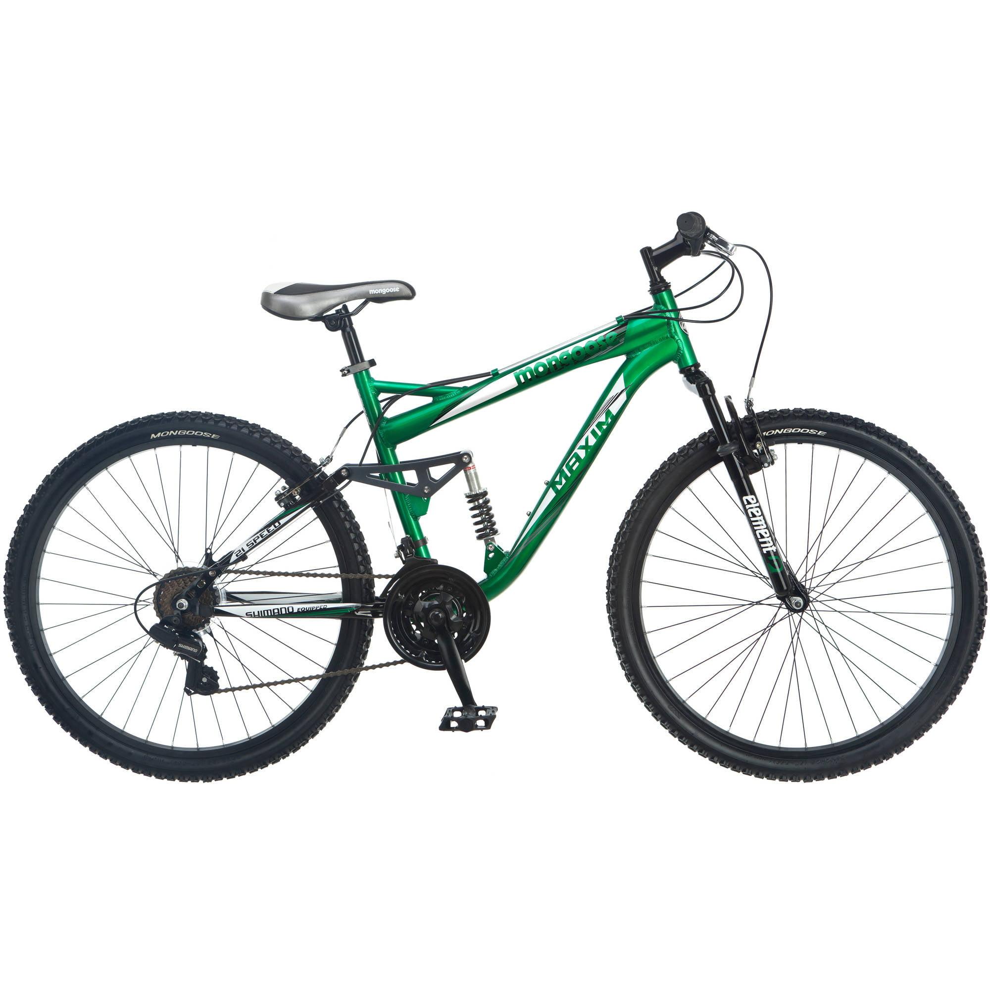 "26"" Mongoose Men's Maxim Mountain Bike, Green"