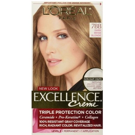 L'Oreal Paris Excellence Creme [7BB] Dark Beige Blonde Haircolor, 1