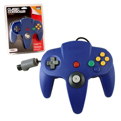 Wired Controller For Nintendo 64 System Blue