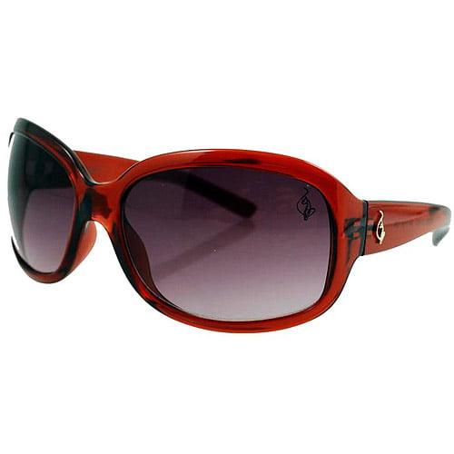 Baby Phat Women's Sunglasses, Burgundy Frame with Gray Lenses