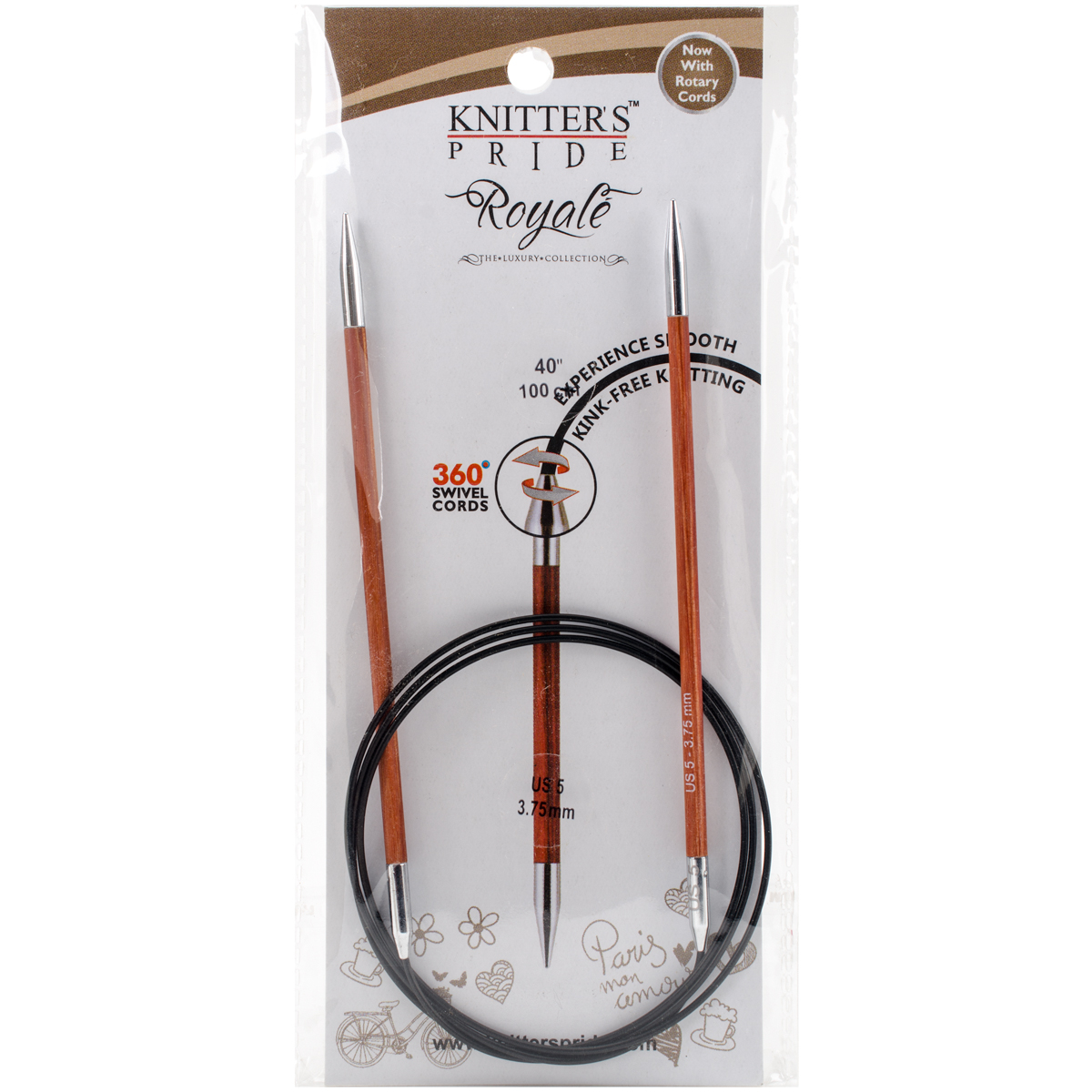 "Royale Fixed Circular Needles 40""-Size 5/3.75Mm"