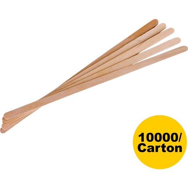 "Eco-Products, ECONTSTC10CCT, 7"" Wooden Stir Sticks, 10000 / Carton, Woodgrain"