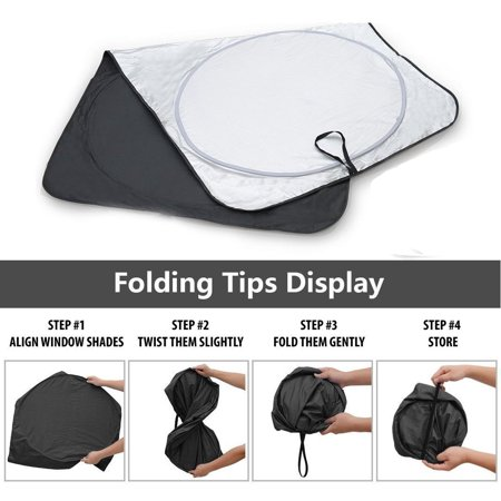 Fordawn Windshield Sun Shade - for Maximum UV and Sun Protection –Foldable Sunshade for car Windshield Will Keep Your car Cooler- Windshield Sunshade (Large) - image 8 de 9