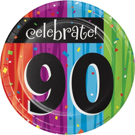 Creative Converting Milestone Celebrations 90th Birthday Dessert Plates, 8 ct - Ideas For 90th Birthday Celebrations