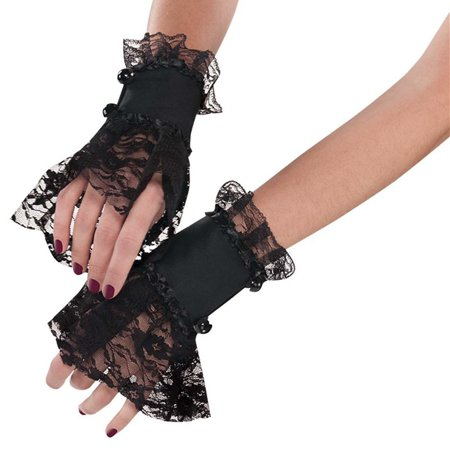 Being Goth For Halloween (Goth Lace Cuffs Adult Costume)