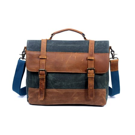 Image of TSD Brand Stone Creek Waxed Canvas Briefcase