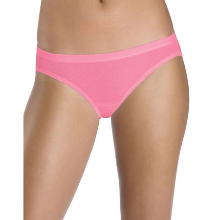 7567d62fb279 Hanes Women`s Cotton Stretch Bikini with ComfortSoft Waistband, 8, Assorted  - image ...
