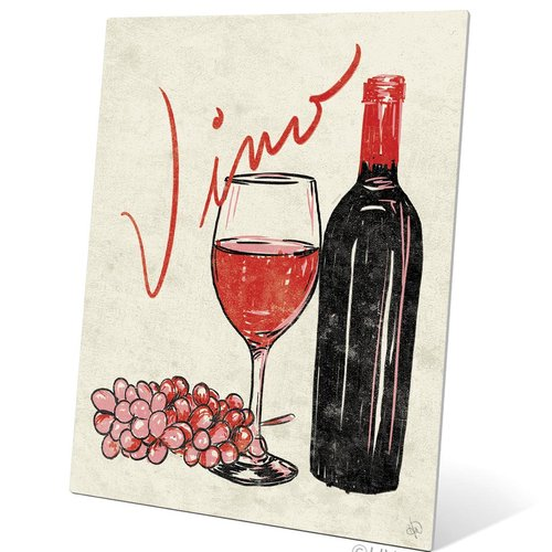 Click Wall Art Vino Painting Print Plaque