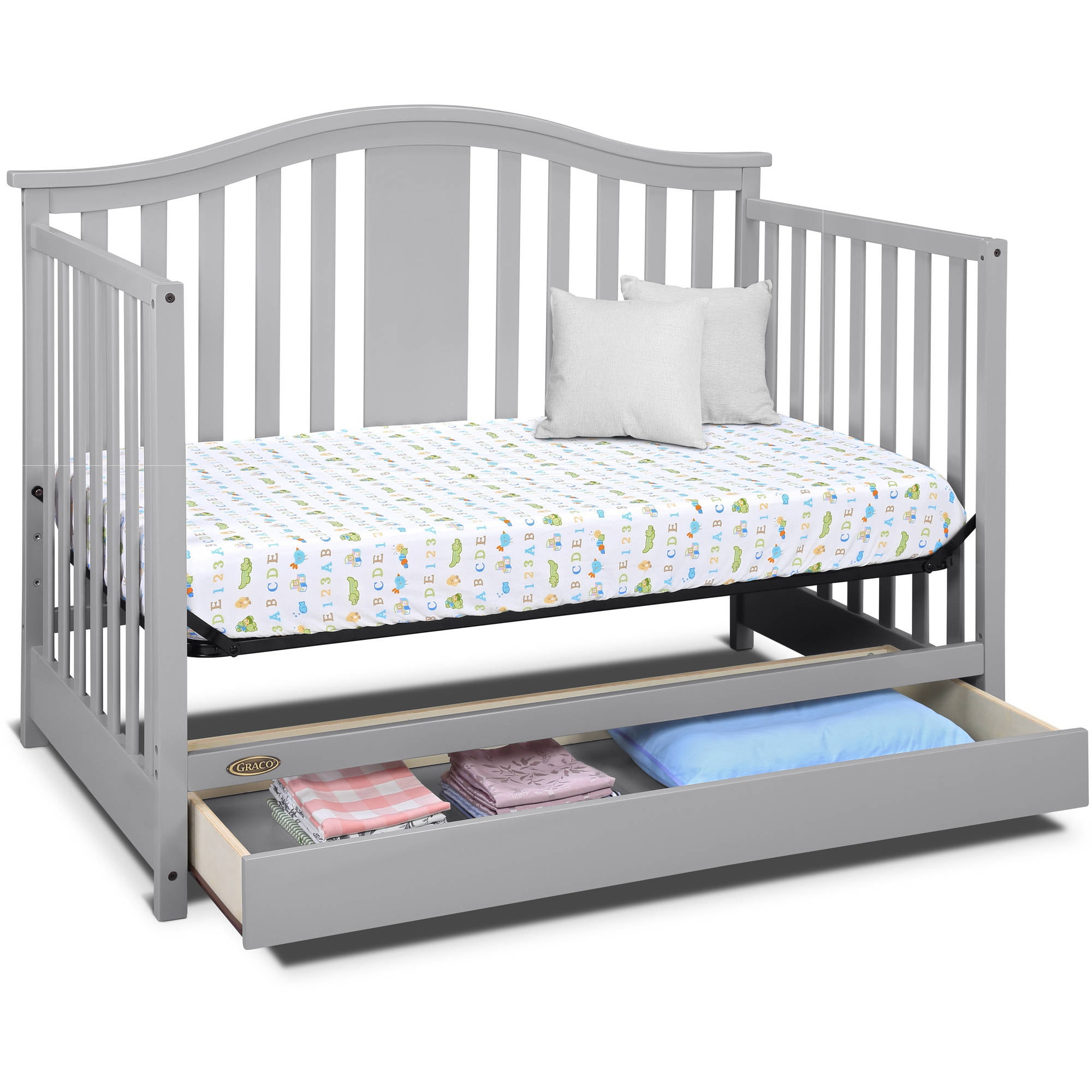 storage convertible in chic toys cribs us brown rustic mattress with slate farmhouse oxford r drawers crib drawer baby