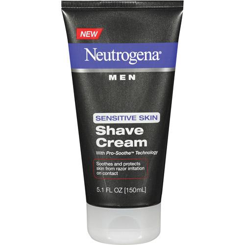 Neutrogena Men Sensitive Skin Shave Cream, 5.1 fl oz