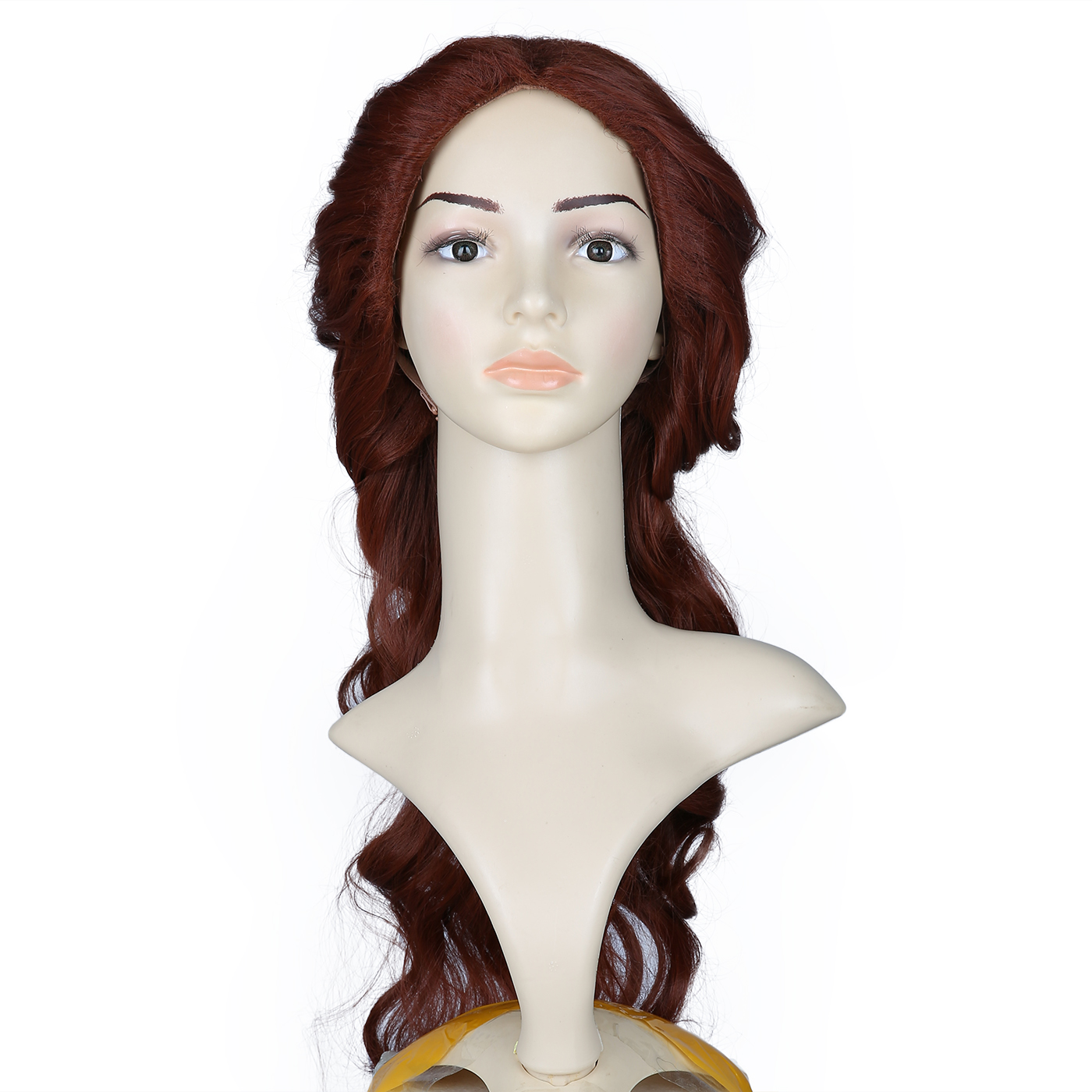 HDE Womens Adult Belle of the Ball Princess Wig Prestyled with Curl and Braid