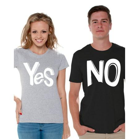 967bfe016e Awkward Styles Funny Couple Shirts Couple Matching Shirts Yes No Matching  Shirts for Couples Valentine Gift Ideas for Couples Gift for Boyfriend  Girlfriend ...
