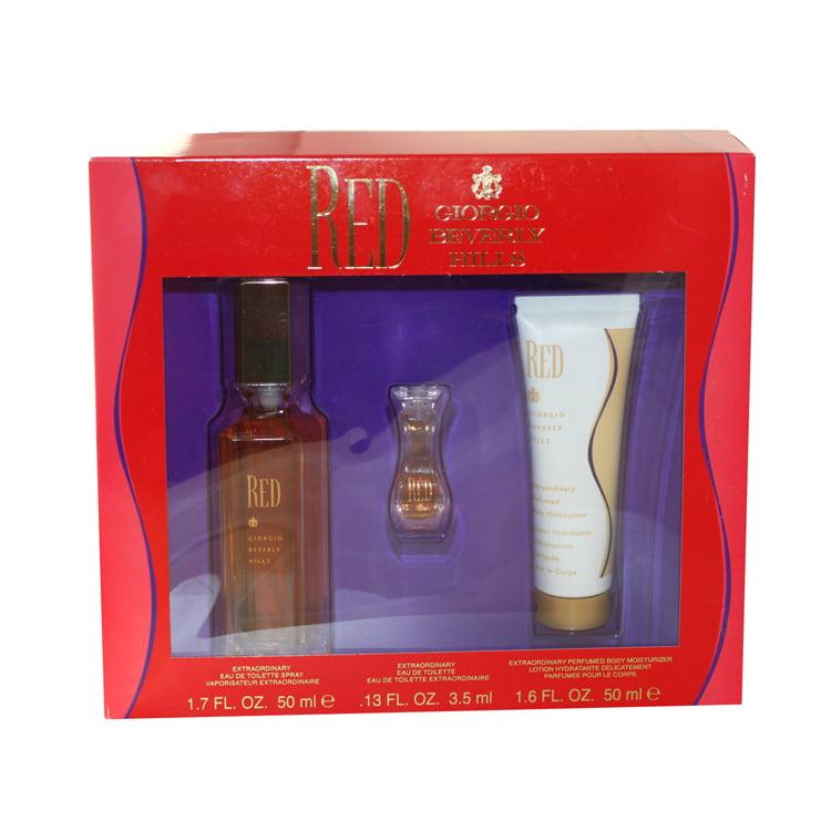 Red 3 Pc. Gift Set ( Eau De Toilette Spray 1.7 Oz + Perfumed Body Moisturizer 1.6 Oz + Eau De Toilette 0.13 Oz)