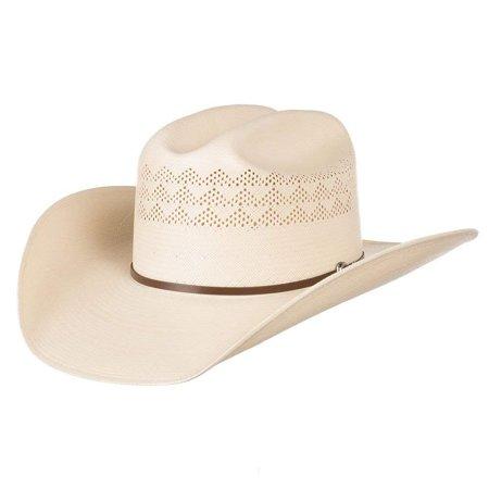 Stetson Hats Mens 30X Cullen 4 1/4 Brim Straw Hat 73/8 Natural (Stetson Hats Gun Club)