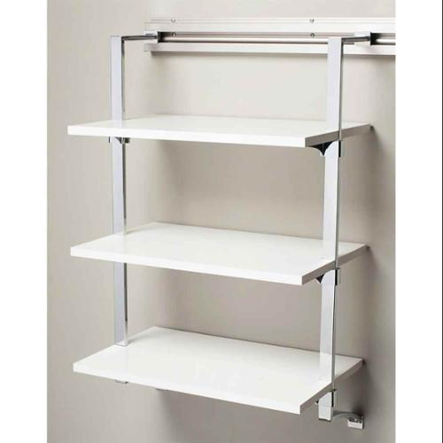 Three Shelf Rack in White Finish