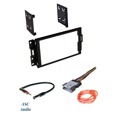Car Stereo Radio Dash Install Kit, Wire Harness, and Antenna Adapter on