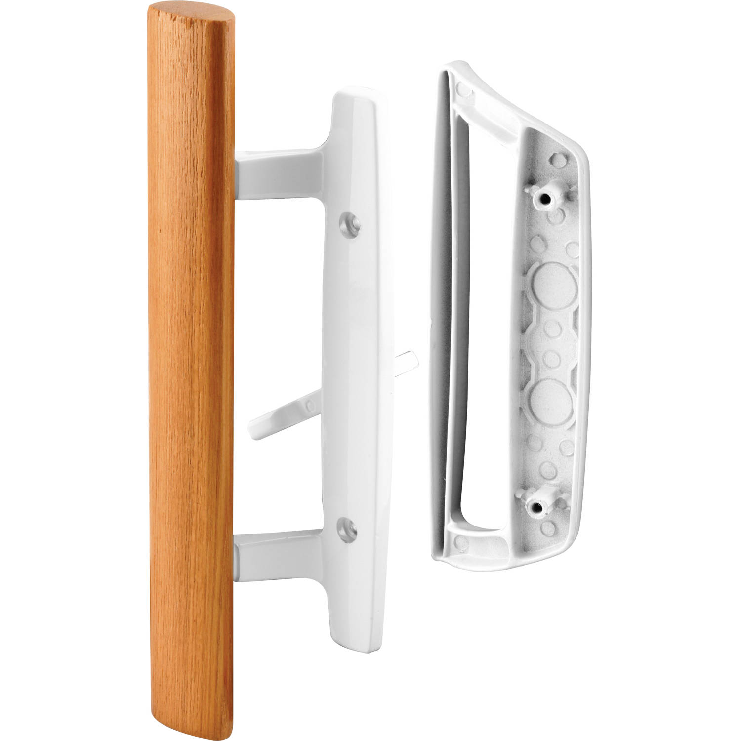 Prime-Line Products C 1204 Sliding Door Handle Set, Wood Handle ...