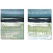 Artistic Home Gallery Sea and Sky I and II by Heather McAlpine 2 Piece Painting Print on Wrapped Canvas