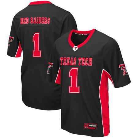 Texas Tech Red Raiders Colosseum Max Power Football Jersey - Black (Tech N9ne Jersey)