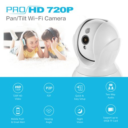 SANNCE 720P Security Camera Smart wireless IP camera with Pan/Tilt, Mobile push and Email