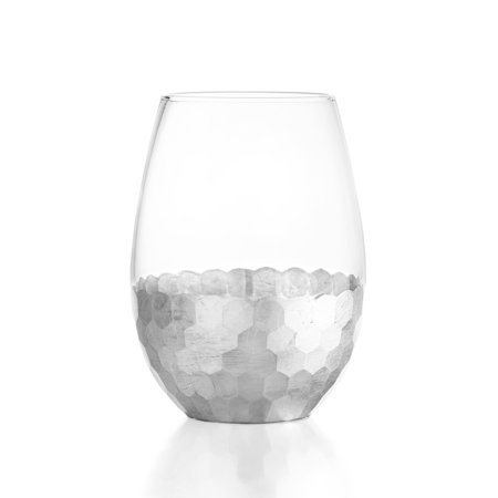Fitz Floyd Ftiz and Floyd Daphne 4-piece 20-ounce Stemless Glass Set