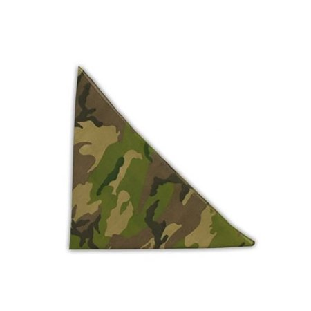 New Camoflauge Woodland Style Color Cotton Bandanas - (4 Different (Different Men's Styles)
