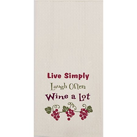 Kay Dee Designs F0728 Wine a Lot Embroidered Waffle