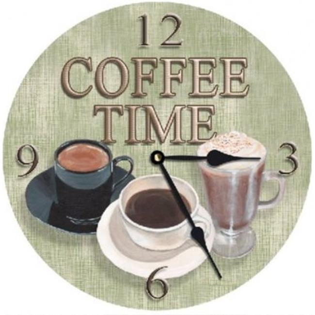 Lexington Studios 23-Large Round Clock:23406-LR Coffee Time 18 inch  Round Clock
