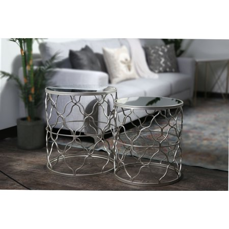 Urban Trends Collection: Metal Table, Metallic Finish, - Sliver Finish