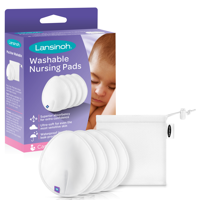 Lansinoh Reusable Nursing Pads for Breastfeeding Mothers, 4 Pads