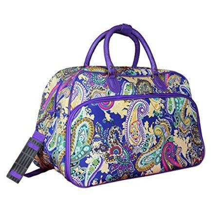 World Traveler 21-inch Carry-on Duffel Bag - Blue Multi Paisley