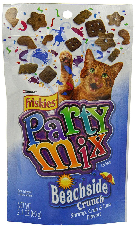 Friskies Party Mix Cat Treats, Beachside Crunch, Shrimp, Crab & Tuna Flavors, 2.1-Ounce... by